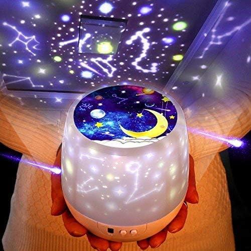 Lámpara Proyector Infantil swonuk 360° Rotación Luz del Proyector ...