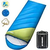 FUNDANGO Oversized Sleeping Bag-4 Season Warm Weather Winter, Lightweight, Waterproof-Great Adults & Kids - Excellent Camping Gear Equipment, Traveling Outdoor Activities.(SINGLE)