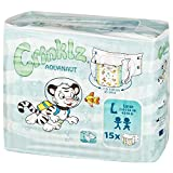 Crinklz Tab-Style Briefs Adult Printed Diapers, Aquanaut, Large, Case/60 (4/15s)