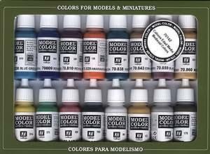 Vallejo Medieval Colors - Set de pintura acrílica (16 unidades), multicolor