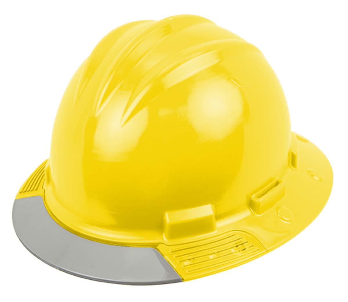 Bullard Yellow AboveView HDPE Full Brim Hard Hat With Flex-Gear 4 Point  Ratchet Suspension 55ff96627