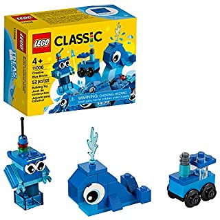 LEGO Classic Creative Blue Bricks 11006 Kids' Building Toy Starter Set with Blue Bricks to Inspire Imaginative Play, New 2020 (52 Pieces)