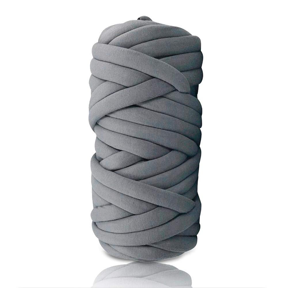 per ricamo gigante Blu 60M fai da te multicolore Gomitolo di lana lavorato a maglia lavorato alluncinetto per coperte da divano Soft Bulky