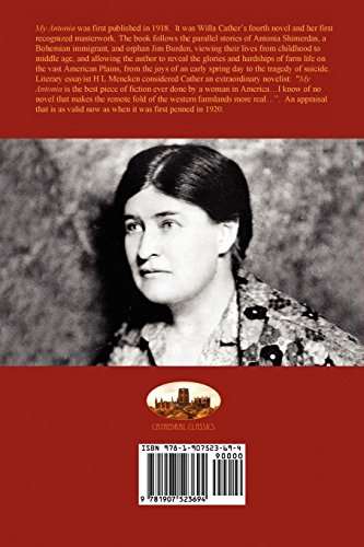 the use of imagery in the book my antonia by willa cather The image of the plow in front of the sinking sun is very prominent throughout the book  the hard work that willa cather put into my antonia  my antonia imagery.