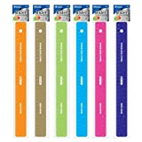 BAZIC Asstd Color 12'' (30cm) Stainless Steel Ruler w/ Non Skid Back (Case of 288)