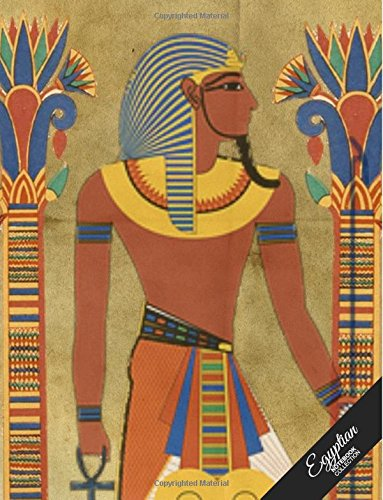 Egyptian Notebook Collection: Pharaoh Design, Journal/Diary, Wide Ruled, 100 Pages, 8.5 x 11, (Egyptian Art)