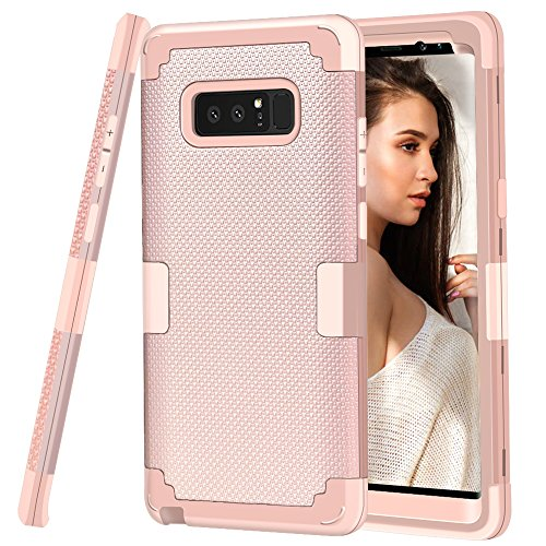 Galaxy Note 8 Case, GPROVA [Thin Fit] Heavy Duty Shockproof Anti-Scratch Protective Case Cover for Samsung Galaxy Note 8 (Rose Gold)