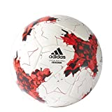 (US) adidas Performance Confederations Cup Official Match Soccer Ball, White/Red/Power Red/Clear Grey, Size 5