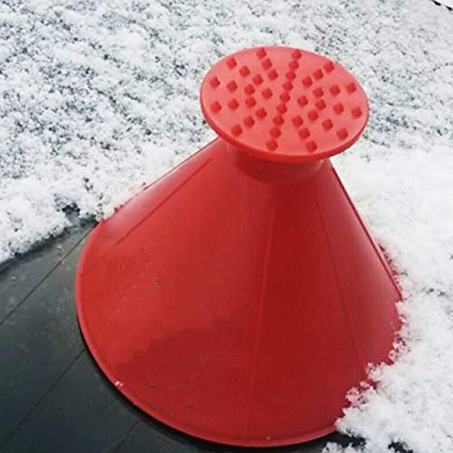 DGQ Windshield Ice Scrapers Pack of 4 Magic Funnel Snow Removal Tool Cone Shaped Car Windshield ICES Snow Remover Scraper Tool