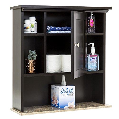 51KgUvc3FGL - Best Choice Products Bathroom Wall Storage Cabinet w/ Faux Granite