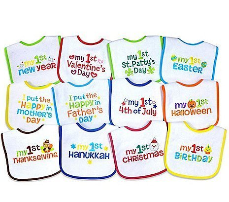 Bib Holiday Baby - Neat Solutions' 12-Pack Baby's 1st Year Holiday Bibs