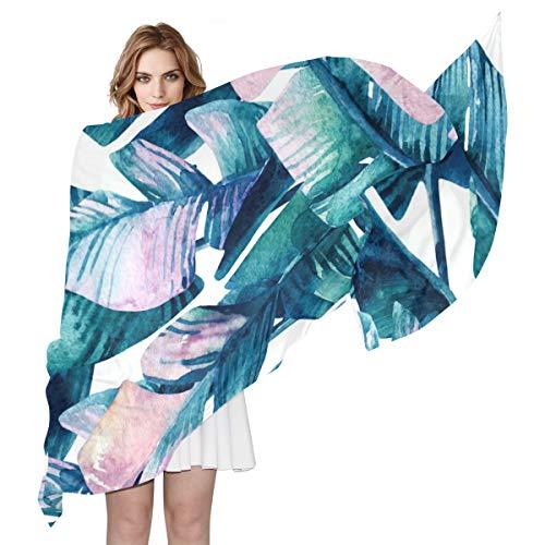 FAJRO Banana Leaf Ins Style Pattern Shawls Wraps Lightweight Scarves Women Scarves ()