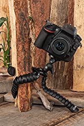 Flexible Tripod for DSLR, Mirrorless, and SLR Cameras by LOHA, Extra Large Size Supports Many Camera Types with Zoom or Telephoto Lens, Ball Head and Level Bundle for framing the perfect shot