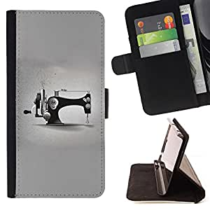 Jordan Colourful Shop - grey designer fashion minimalist For Sony Xperia Z1 Compact D5503 - Leather Case Absorci???¡¯???€????€???????