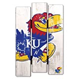 WinCraft NCAA University of Kansas Wood Fence Sign, Black