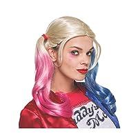 Peluca de Harley Quinn Value de Rubie's Costume Co. Suicide Squad para mujer, como se muestra, talla única