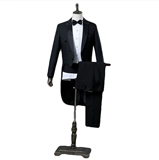 Fitty Lell Mens Slim Fit Suit 2 Piece Tuxedos One Button Wedding Formal Suit