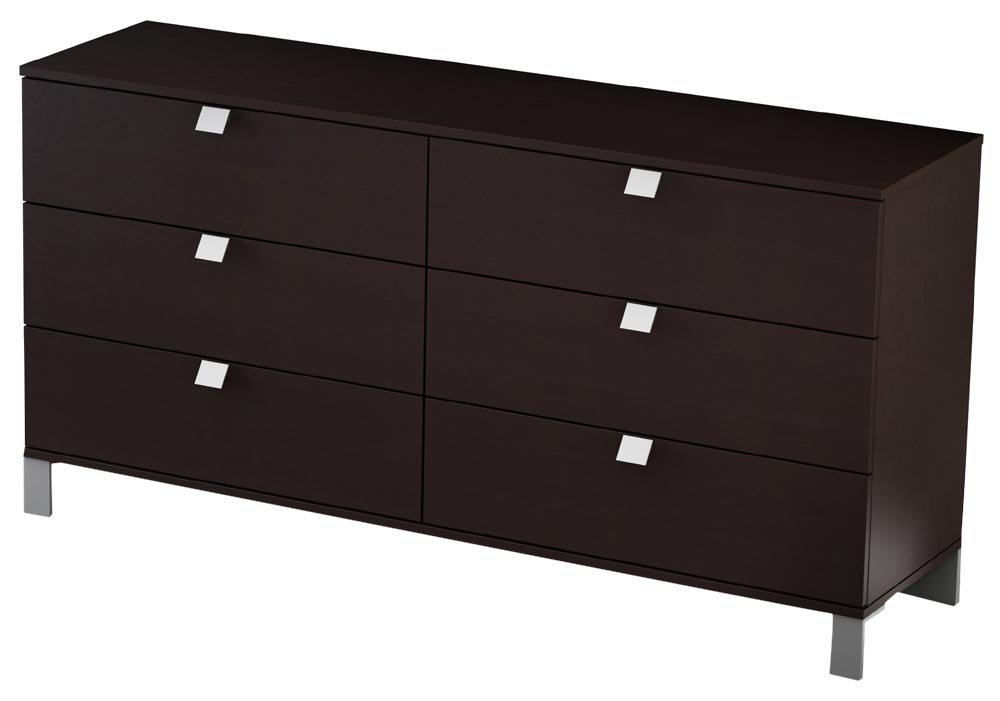 South Shore Furniture, Cakao Collection, Triple Dresser, Chocolate by South Shore