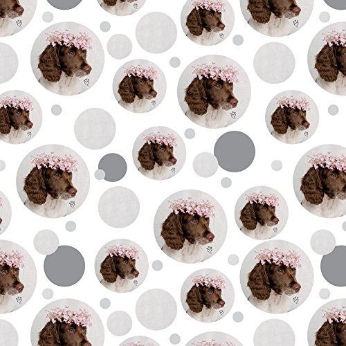 GRAPHICS & MORE Springer Spaniel Dog Flower Blossom Tiara Premium Gift Wrap Wrapping Paper Roll