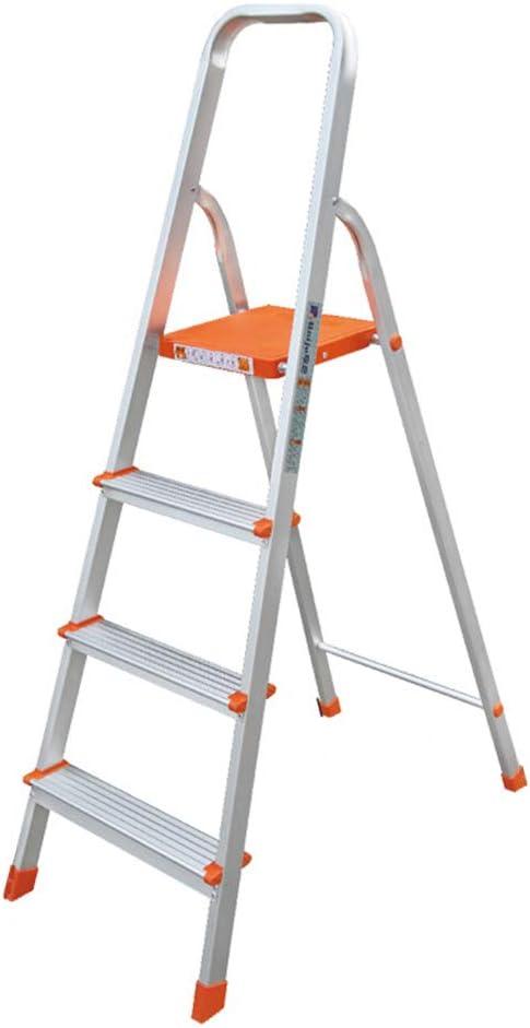 C-J-Xin Escalera de Cuatro Pasos, Escalera portátil Multifuncional al Aire Libre Plegable de la Escalera de Cinco Pasos de la Escalera de Tres Pasos del Metal Escalera de casa: Amazon.es: Hogar