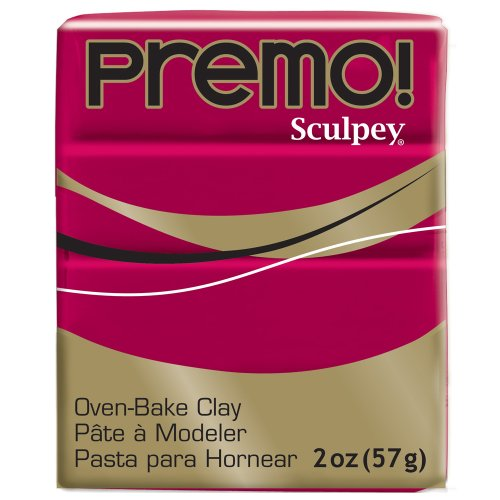 (Premo Sculpey Polymer Clay 2 Ounces-Alizarin Crimson)