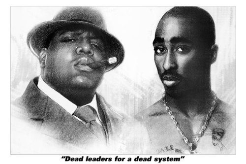 24x36 Poster Print Biggy Tupac Dead Leaders Makaveli 2Pac (Biggy Print)
