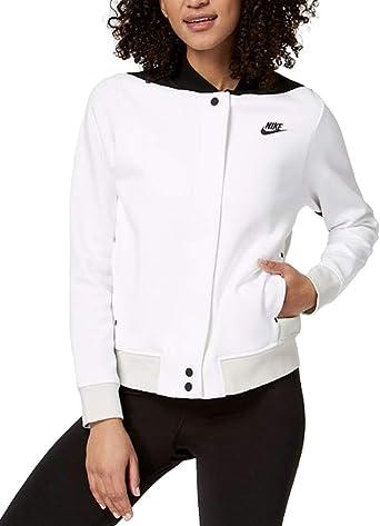 barbilla collar Destruir  Amazon.com: Nike - Chaqueta de forro polar para mujer (talla M), color  blanco: Clothing