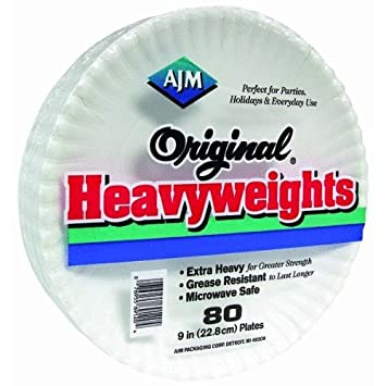 Original Heavyweights Paper Plates  sc 1 st  Amazon.com : heavyweight paper plates - pezcame.com
