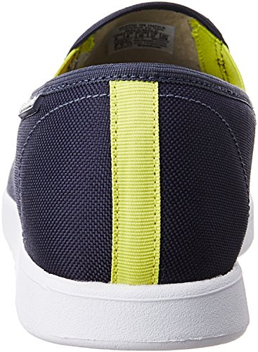 Reebok Classics Mens Court Slip St Blue Ink and Hero Yellow Loafers and Moccasins - 8 UK/India (42 EU)(9 US)