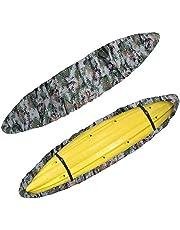 POFET Professionele waterdichte kajak kano cover, outdoor opslag stofhoes UV zonneblok schild beschermer voor vissen boot/kajakk/kano