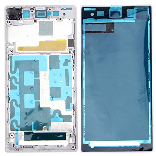 ZHANGTAI Sparts Parts Front Housing LCD Frame Bezel Plate for Sony Xperia Z1 / C6902 / L39h / C6903 / C6906 / C6943(Black) Repair Flex Cable (Color : White)