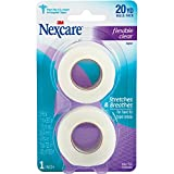 Nexcare Flexible Clear First Aid Tape, From the #1 Leader in U.S. Hospital Tapes, 1-Inch x 10-Yard Roll, 2 count