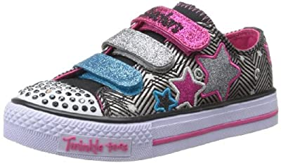 Skechers Kids Twinkle Toes Shuffles-Triple Up Sneaker (Little Kid/Big Kid) from Skechers Kids