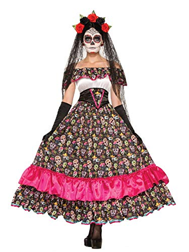 Forum Novelties Women's Day Of Dead Spanish Lady Costume, Multi, Standard]()