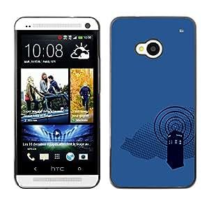 EJOY---Cubierta de la caja de protección la piel dura para el / HTC One M7 / --Dr 0MS Cabina de teléfono