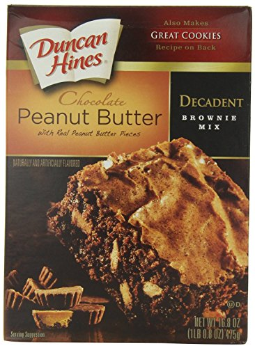 (Duncan Hines Decadent Brownie Mix, Chocolate Peanut Butter, 16.8)
