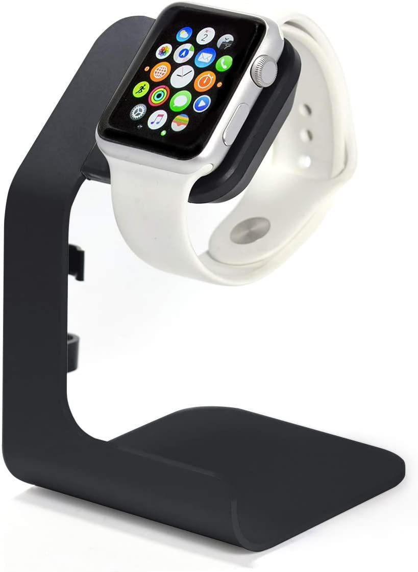 Apple Watch Stand-Tranesca Apple Watch Charger Stand Compatible with Apple Watch Series 6 / SE / 5/4 / 3/2 / 1 (38mm / 40mm / 42mm / 44mm) Black - Must Have Apple Watch Accessories