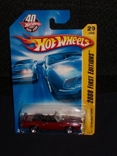 Hot Wheels 2008 029 29 New Models Purple '70 Pontiac GTO on 40th Anniversary 2008 First Editions Card 1:64 Scale