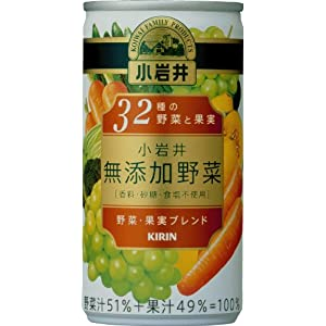 小岩井 無添加野菜 32種の野菜と果実 缶 (190g×30本)