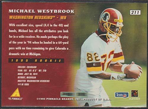 acae7950 Amazon.com: 1995 Pinnacle Michael Westbrook Redskins Rookie Football Card  #211: Collectibles & Fine Art