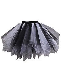 Loreone Women's Rainbow TuTu Petticoats Crinoline Dance Adult Skirt