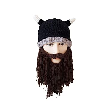 911d38224b4 Image Unavailable. Image not available for. Color  BESTOYARD Funny Vikings  Beanies ...