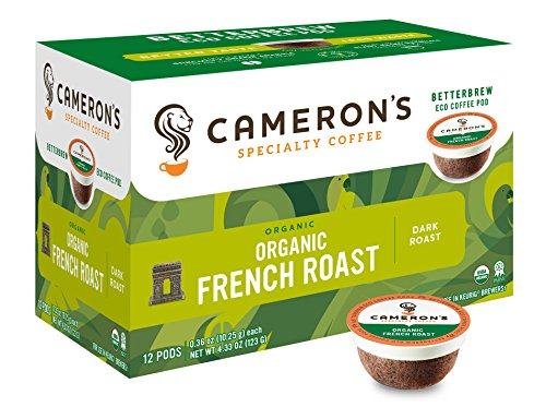 Cameron's Specialty Coffee, Organic French Roast, 72 Count, Single Serve (Coffee Specialty Roast)