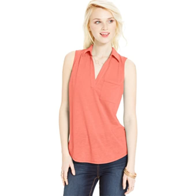 eaa90534ec0832 Image Unavailable. Image not available for. Color  Almost Famous Juniors   Slub-Knit Sleeveless Top bright ...