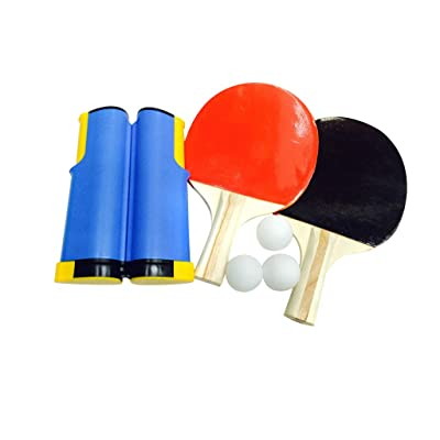 Makifly Portable Ping Pong Net Set - Net for Table Tennis- Adjustable Any Table Anywhere; Portable Holder Cover Case; Indoor Outdoor Game Replacement Accessories: Toys & Games