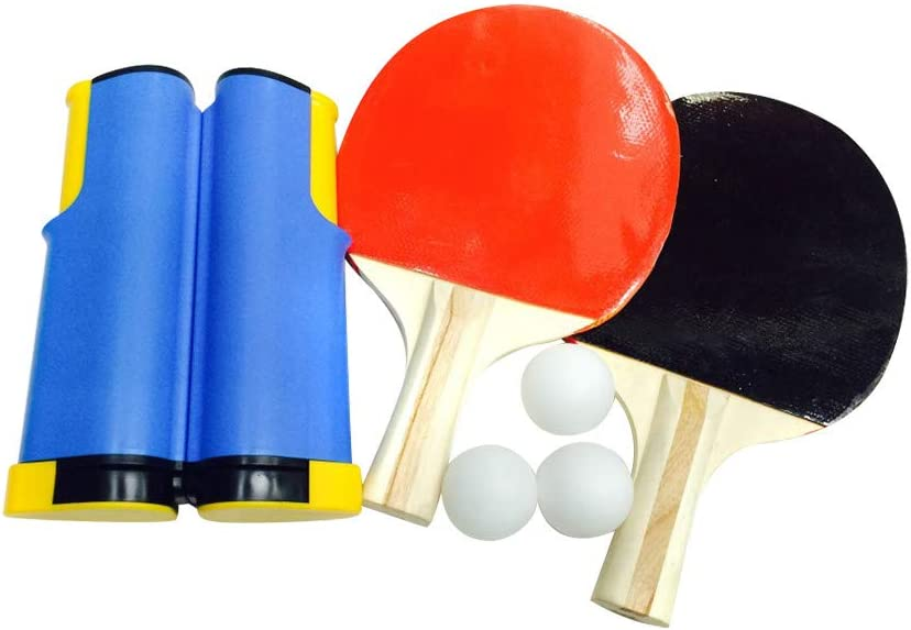 Comie Pingpong Ball, Tischtennis Indoor Games Retractable portátiles Tischtennisnetz Ping-Pong Paddles Kit Set Trainingsmaschine más rápido Tennis Dekompression Set interior exterior