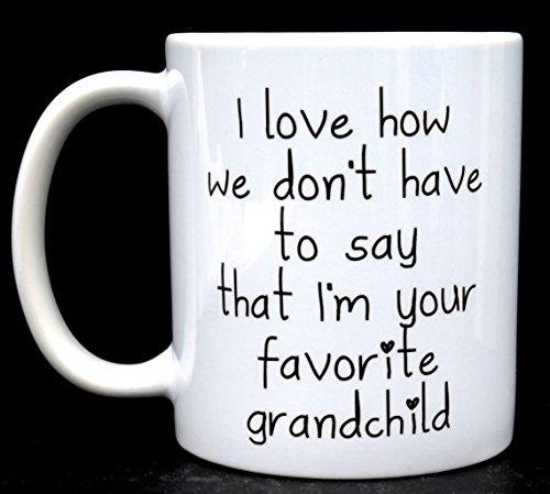 I'm Your My Favorite Grandchild Mug, new grandma, new grandpa, new grandpa mug, new grandma mug, gift for grandma, grandma gifts, gift for grandpa, 11oz 15oz