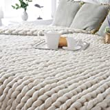 Clearance! Auwer Chunky Giant Knit Thick Yarn Blanket Bulky Knit - Extreme knitting Knitted Pet Bed Chair Sofa Yoga Mat Rug 31.5x39.4