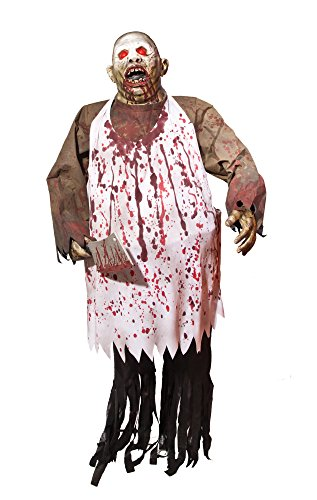 [Morbid Enterprises Chopping Brock, Brown/White/Black/Red, One Size] (Halloween Animatronics)
