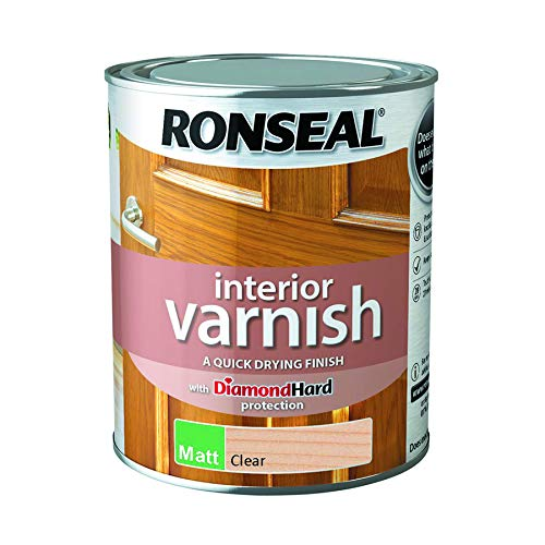 - Ronseal Interior Varnish Quick Dry Matt Clear 750ml